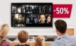 50% скидки на онлайн-кинотеатр!